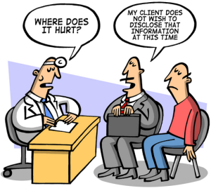Doctors and Lawyers. Stiff workplace completion. Click for more Kip Piper cartoons.