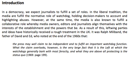 Excerpt from LSE's document on media representations in the UK media