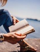 reading book in sunshine