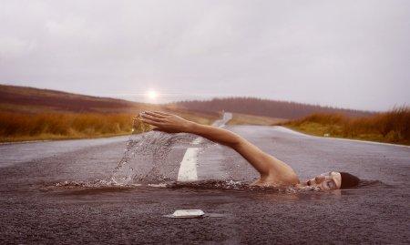 Swimmer in dream